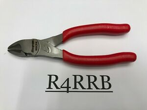 Snap on Tools Usa New Red Vinyl Grip 6 Length Diagonal Cutters 86acf