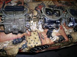 Mopar 71 440 Six Pack Holley Carburetors Set With Dodge Plymouth 7 Digit Stamp