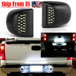 For 1999 2013 Gmc Sierra 1500 2500hd 3500hd Led License Plate Light Housing
