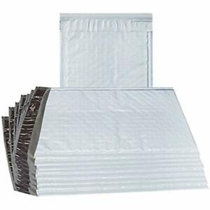 Abc 25 Pack Poly Bubble Mailers 8 5 X 11 Padded Envelopes 1 2 White Cushion And