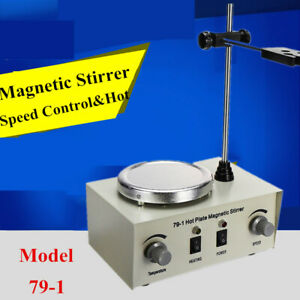 Magnetic Stirrer Hot Plate Mixer Stirring Laboratory Dual Control Heating Holder