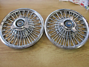 Factory 1965 1966 Ford Mustang 14 Inch Wire Spoke Spinner Hubcaps Wheel Covers