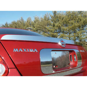 1pc Luxury Fx Chrome 3 69 Spoiler Cover Fit For 2004 2006 Nissan Maxima