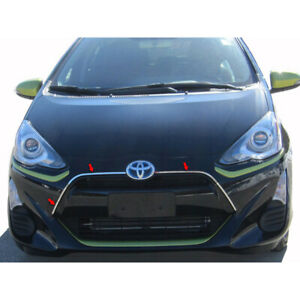 3pc Luxury Fx Stainless Steel Grille Accent Trim For 2012 2017 Toyota Prius C