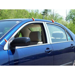 6pc Luxury Fx Stainless Window Pkg w o Posts For 2003 2008 Toyota Corolla 4d