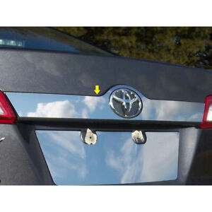 1pc Luxury Fx Chrome License Bar Trim For 2012 2014 Toyota Camry