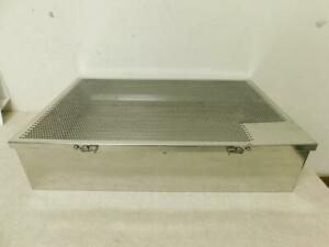 Stainless Steel Medical Instrument Sterilization Tray 20 5 X 13 25 X 4 75 H