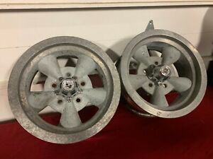 Vintage Keystone Torque Thrust Style Wheels 14x6 4 3 4 Lug Gm Chevrolet