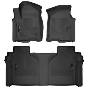 Husky Liners Row 1 2 Weatherbeater Floor Mats For 2019 20 Silverado sierra Crew