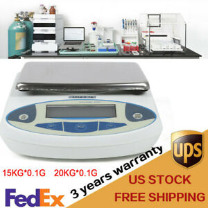15 20kgx0 1g White Backlight Balance Digital Precision Analytical Electric Scale