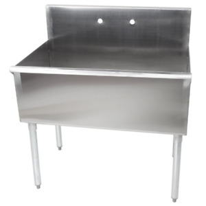 36 X 24 X 14 Bowl Stainless Steel Commercial Utility Prep 36 1 Sink Heavy Duty