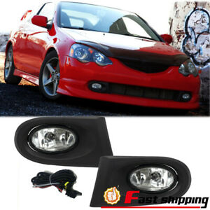 Fit 2002 2004 Acura Rsx Front Bumper Drving Fog Lights Clear Lens Lamps