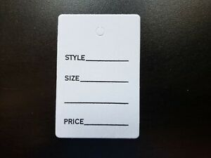 1000 White Garment Tags Merchandise Price Jewelry Small Card 1 7 8 X 1 1 4