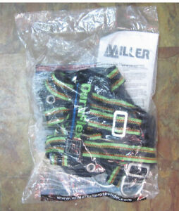 New Miller Green Fall Protection Safety Harness E650fd 4 ugn Size Universal