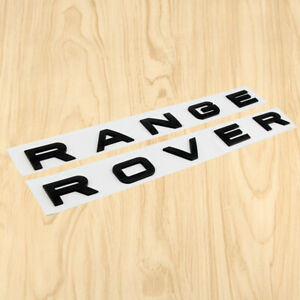Gloss Black Fit Range Rover Letters Hood Trunk Tailgate Emblem Decal