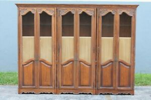 Traditional Style Vintage Tall Cabinet Bookshelves