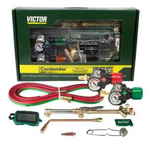 Victor 0384 2130 Contender 540 510 Edge 2 0 Acetylene Cutting Torch Outfit