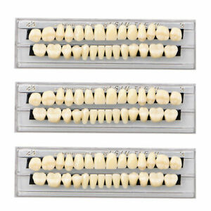 84pcs 3sets Acrylic Resin Tooth Dental Full Set Teeth Upper Lower Shade 23 A3