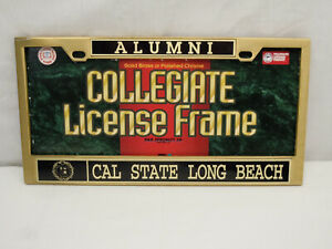 R d Specialty Solid Brass Cal State Long Beach Alumni License Plate Frame