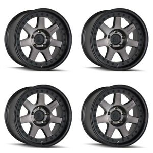 Set 4 20 Mayhem 8300 Prodigy Black W dark Tint Truck Wheels 20x9 6x135 0mm