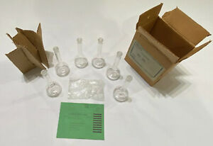 Vintage Corning Glass Works Pyrex 50ml Flasks Case Of 6 New Open Box