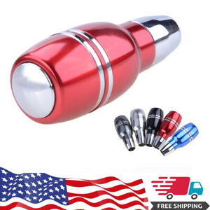 Automatic Gear Shift Knob Alloy Car Universal Stick Shifter Lever Red Handle