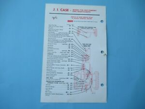 Case 730 830 Tractor Lubrication Guide Chart
