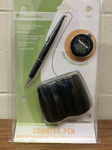 new Baumgarten s Counter Pen W Finger Print Pad 38032