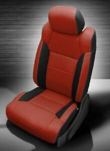 Toyota Tundra Crewmax Katzkin Leather Seat Replacement Covers Buckets Custom Red