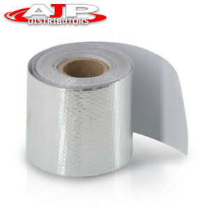 High Temperature Heat Shield Wrap 2 X 180 Self Adhesive Silver Barrier Tape