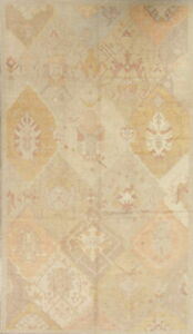 Antique Look Vegetable Dye Muted Oushak Turkish Hand Knotted Oriental Rug 7 X12