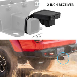 2 Towing Trailer Hitch Receiver Tube Cover Rubber Plug For Jeep Wrangler Jk Jl