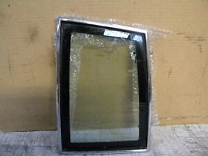 1986 Grand Prix Factory Vent Window Glass Left Rear With Chrome Trim