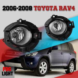 Round Fog Lights For 2006 2008 Toyota Rav4 Driving Lamp Clear Wiring Kit Harness