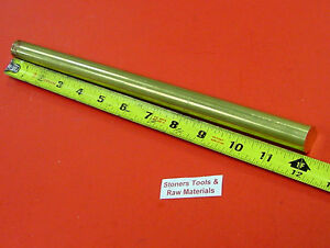 3 4 C360 Brass Solid Round Rod 12 Long New Lathe Bar Stock 750 1 2 Hard
