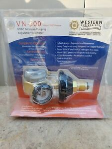 Western Enterprises Vn 500 Flowmeter Nitrogen Purging Regulator W 500 Psi Test