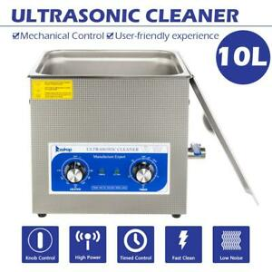 Stainless Steel 10l Industry Heated Ultrasonic Cleaner Adjustable Temperature