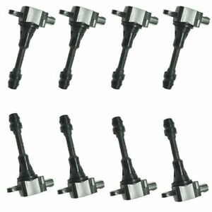 8pcs Ignition Coil For 04 06 Nissan Armada Titan Infiniti Qx56 22448 7s015 Uf510