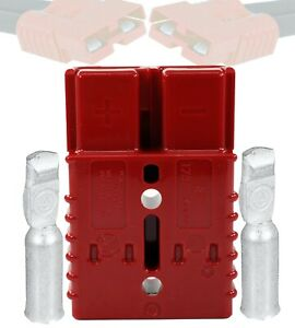 Anderson Sb120 2 Pole 120amps Power Ground Quick Disconnect Red Size 1 Awg