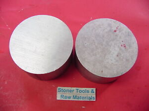 2 Pieces 2 Aluminum Round Rod 6061 Bar 1 5 Long Solid T6511 Extruded Bar Stock