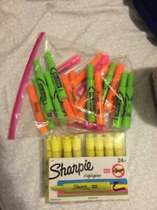 Highlighters Sharpie Yellow And Other Colors And Hi liter Brand For Greens