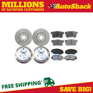 Front And Rear Brake Rotors And Performance Ceramic Pads For 2005 2006 Honda Crv