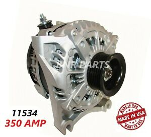 350 Amp 11534 Alternator Ford E Super Duty High Output Performance Usa New Hd