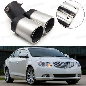 Car Exhaust Muffler Tip Tail Pipe Trim Silver For Buick Lacrosse 2010 2015 018