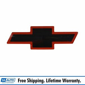 Oem 12543000 Grille Mounted Black Red Bowtie Emblem For Chevy