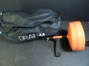 New Drain Cleaner Portable Sewer Snake Clog Cable Plumbing Drum Auger