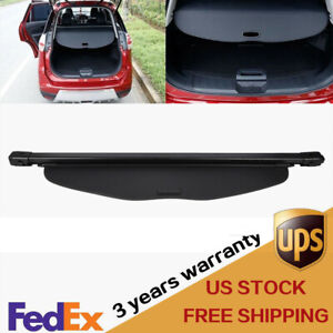 Rear Trunk Security Shade Cargo Cover Black For Nissan X trail Rogue 2014 19 Us