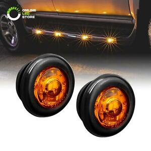 2pc 3 4 Round Dot P2pc Amber Led Bullet Clearance Marker Lights For Trailer