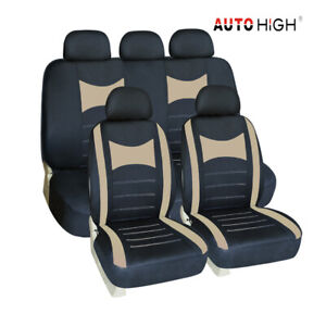 Auto Seat Cover Beige Front Bench Headrest Car Seat Covers For Car Truck Suv Van