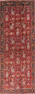 Rare Size All Over Paisley Floral Kashmar Wide Runner Rug Hand Knotted Red 6x14